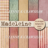 MADELEINE - a pack of 10 digital papers - DESIGNER RESOURCE
