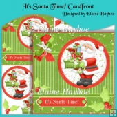 It's Santa Time Cardfront with Decoupage