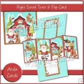 Flight School Twist & Pop Card