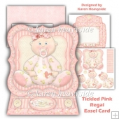 Tickled Pink Regal Easel Card
