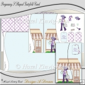 Pregnancy S Shaped Gatefold Card