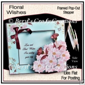 Floral Wishes - Framed Pop-Out Stepper Card