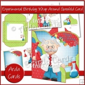 Experimental Birthday Wrap Around Gatefold Card