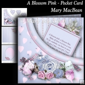 A Blossom Pink - Pocket Card