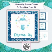 Dream Big Cute Lamb 7.5 Inch Square Card Front Kit
