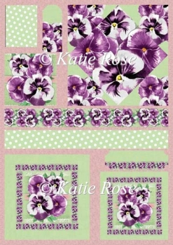 Country Flowers Purple Pansies Diamond Plus Toppers