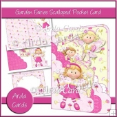 Garden Fairies Scalloped Pocket Card