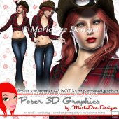 Western Cowgirl Poser Graphics Set 2