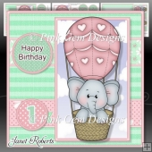 Balloon Ella Pink Mini Kit Birthday/New Baby