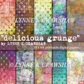 Delicious GRUNGE 10 x A4 high quality printable papers