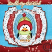 Double Pop Out Card Penguin