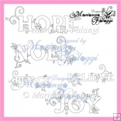 Peace ~ Joy ~ Noel ~ Believe ~ Hope title digital stamps