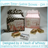 Sweet Bear Gable Boxes - Set 1
