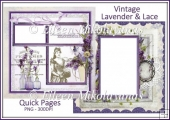 Vintage Lavender and Lace Quick Pages