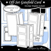 Off-Set Gatefold Card