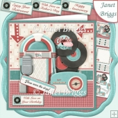 RETRO MUSIC 7.5 Decoupage & Insert Kit