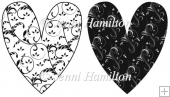 2 Patterned Hearts