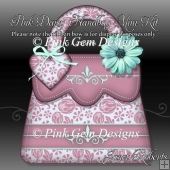Pink Daisy Handbag Shaped Card