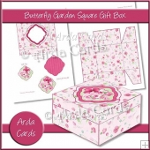 Butterfly Garden Square Gift Box