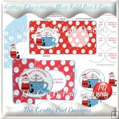 Father Christmas Mug Fold Back Card