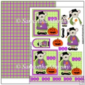Halloween Mouse Witch PDF Decoupage Download