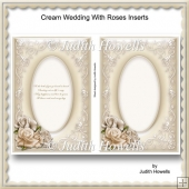 Cream Wedding With Roses Inserts