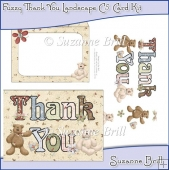 Fuzzy Thank You Landscape C5 Card Kit