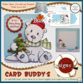 Polar Bear Christmas Shaped Fold Card Kit