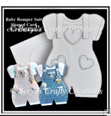 Romper Suit Shaped Card CU/PU Template