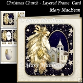 Christmas Church - Layered Frame Card