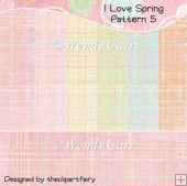 I Love Spring Papers - Pattern 5(Retiring in August)