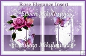 Rose Elegance Card Insert