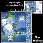 Magical Night - Decoupage Card Front