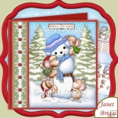 Mountaineering Mice Christmas 7.5 Decoupage Kit
