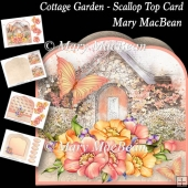 Cottage Garden - Scallop Top Card