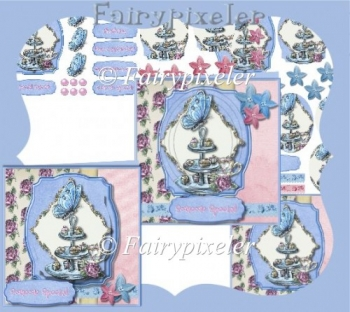 Tea Party Card front & Pyramage Card Kit