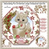 Decorating For Christmas Large Octagonal Card Kit