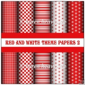 Red And White Theme Papers 2