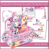Teddy Bear's Birthday Rectangle Pop Up Box Card