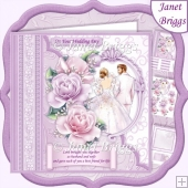 Wedding Day LOVE BROUGHT YOU TOGETHER 8x8 Decoupage Kit & Insert