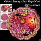 Oriental Evening - Petal Shaped Card