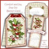 Comfort And Joy Pop Out Banner Card