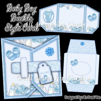 Baby Boy Buckle Style Card