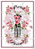 Shabby Roses Paris Dressform Collage Journal Cover