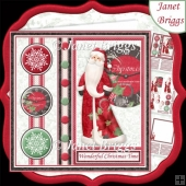 CHRISTMAS TIME 7.5 Santa Decoupage & Insert Mini Kit