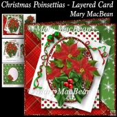 Christmas Poinsettias - Layered Card