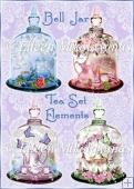 Cottage Chic Bell Jar Tea Set Embellishments