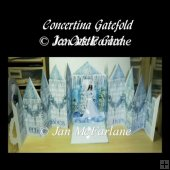 ICE CASTLE GATEFOLD DOUBLE CASCADE POPUP CARD