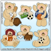 Sports Bears Clip Art Download
