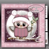 Olivia Owl With Mistletoe Pink Mini Kit